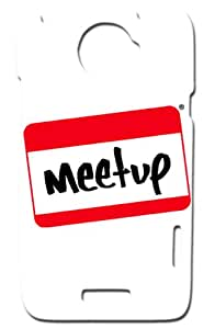 "Rebel Mobile Case Print Design - ""Meet-up"" For -HTC X+"