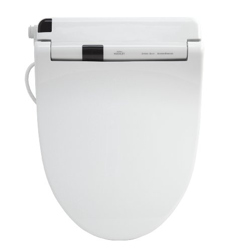 Toto Sw554-01 Washlet S300 Elongated Front Toilet Seat, Cotton White front-896418
