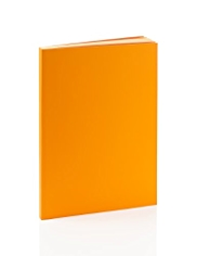 Premium A5 Orange Lined Notebook