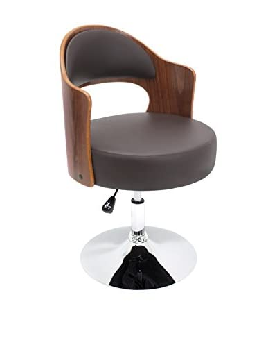 Lumisource Cello Chair, Walnut/Brown