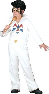 Elvis Child White Jumpsuit Adult Small Costume