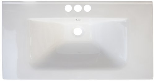 American Imaginations 429 32-Inch by 18-Inch White Ceramic Top with 4-Inch Centers