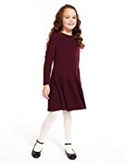 Autograph Pure Cotton Bow Knitted Dress
