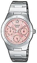 CASIO Collection LTP-2069D-4AVEF - Reloj de mujer de cuarzo, correa de acero inoxidable
