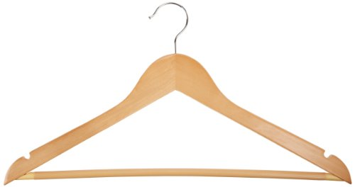 AmazonBasics Wood Suit Hangers - 30 Pack, Maple (Wooden Clothes Hanger compare prices)