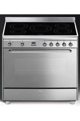 Smeg-CG90IX-Cuisinire-Induction-5-Foyers-Grande-Largeur-90cm-109-L-Classe-B