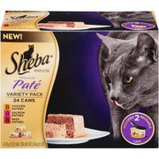 Sheba Variety Pack Premium Pate Premium Canned Cat Food, 3 oz, 24-Pack(Pack of 3)