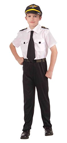 Instant Pilot Kit Airplane Airline Uniform Halloween Costume Accessories Child