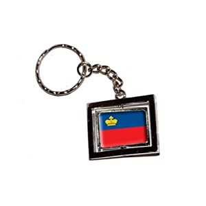 Liechtenstein Country Flag - New Keychain Ring