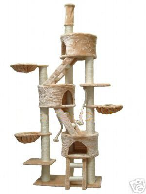 """Jungle GYM"" Cat Tree Condo With House, Bed & Pet Scratcher Post"