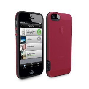 Apple iphone 5C Belkin Grip Candy Case - Blacktop and Crimson - Retail Packaged from Belkin