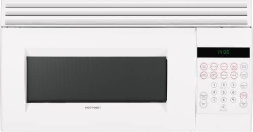 Hotpoint Rvm1535Dmww 1.5 Cu. Ft. White Over-The-Range Microwave