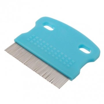Souked Stainless Steel Pet Dog Cat Removal Cleaning Flea Toothed Comb tpr stainless steel hair grooming cleaning comb for pet cat dog black blue silver