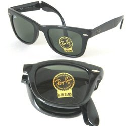 Ray-Ban Folding Wayfarer RB 4105 601 Black Sunglasses Size 50-22