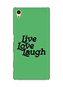 Amez Live Love Laugh Back Cover For Sony Xperia Z5