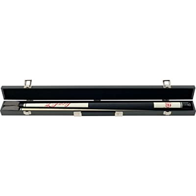 Trademark Global Coca-Cola Billiard Pool Cue Stick with Case, Black/Brown