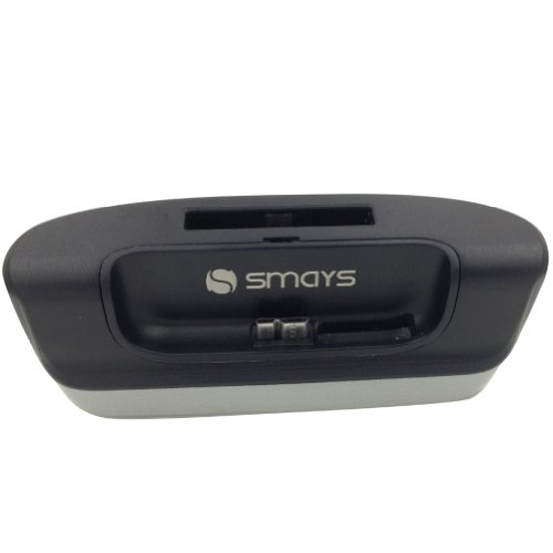 Smays Data Sync And Charging Dock Cradle With Battery Slot For Samsung Galaxy S5 G900 (Gray)