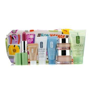 Travel Set: Liquid Soap + Moisture Surge + Eye Cream + Turnaround Mask + City Block + Foundation #63 + Lipstick #17 + Bag 7pcs+1bag