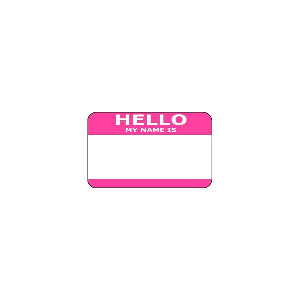 Hello My Name Is Id Card Sticker Badge Fun Party On Popscreen