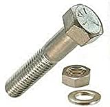 M10X60 A2 STAINLESS STEEL HEX HEAD BOLT (INC NUT & WASHER) - (PACK OF 10)
