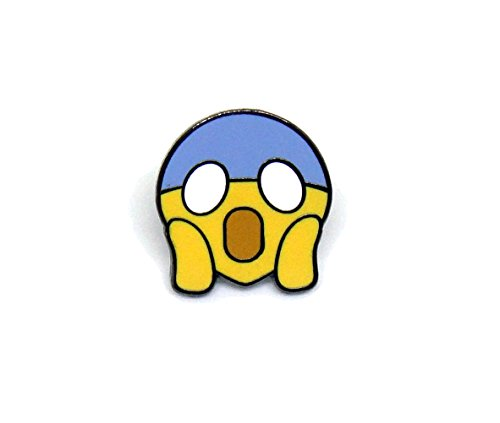 PinMaze Face Screaming in Fear Emoji Theme Enamel Lapel Pin (Pic Roller Ball Refill compare prices)