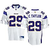 Minnesota Vikings Chester Taylor Men's NFL Replica White Jersey