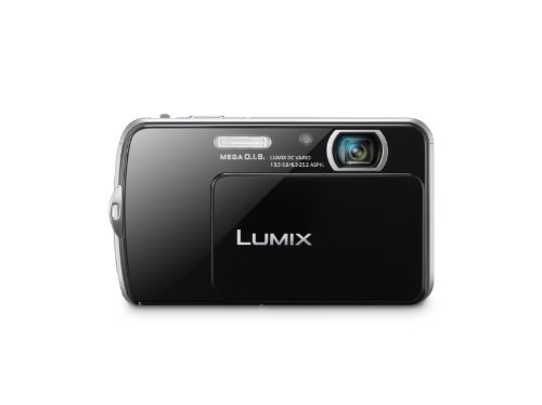 Panasonic Lumix DMC-FP7, Slim Design, 16.1 MP Digital Camera with 4x Optical Zoom and 3.5-Inch Smart Touch LCD (Black)