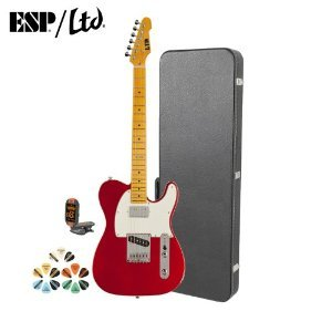 Esp Te Te-212M-Car-Kit Electric Guitar With Tuner, Picks And Chroma Cast Hard Case - Candy Apple Red