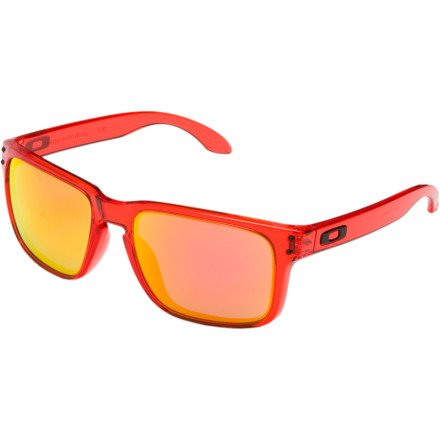 Oakley Holbrook Sunglasses Crystal Red/Ruby Iridium, One Size