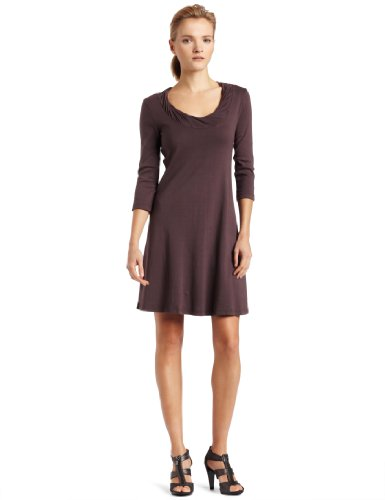 Three Dots Womens Dress With Twist Neck Detail