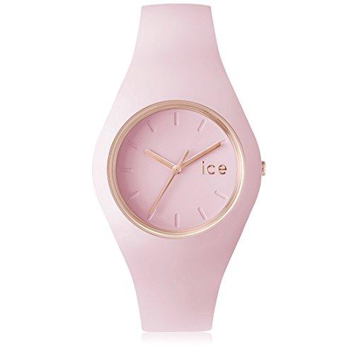 Ice Watch ICE.GL.PL.U.S.14 Orologio da Polso, Quadrante Analogico da Donna, Cinturino in Silicone, Rosa