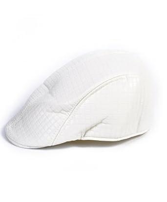 White Modern Ivy Cap (Small/Medium)