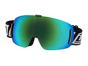2013 DIRTY DOG Frameless BLIZZARD medium Ski Snow Goggles GREEN Fusion MIRROR 54141