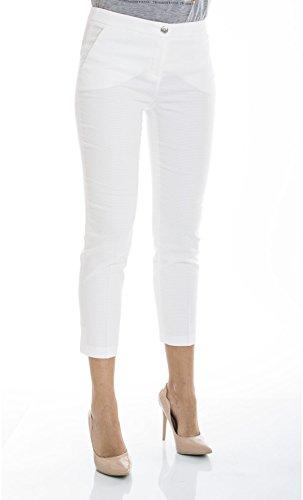 Trussardi Jeans - PANTALONE CAPRI - 56P88-01-PE16 - Bianco, 42