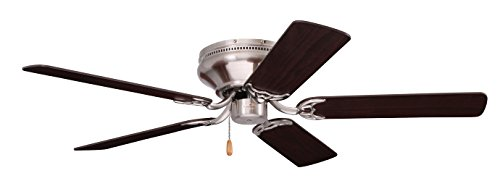 Emerson Ceiling Fans CF804SBS Snugger Low Profile Hugger Ceiling Fan, 42-Inch Blades, Light Kit Adaptable, Brushed Steel Finish (Ceiling Fan Low Profile White compare prices)