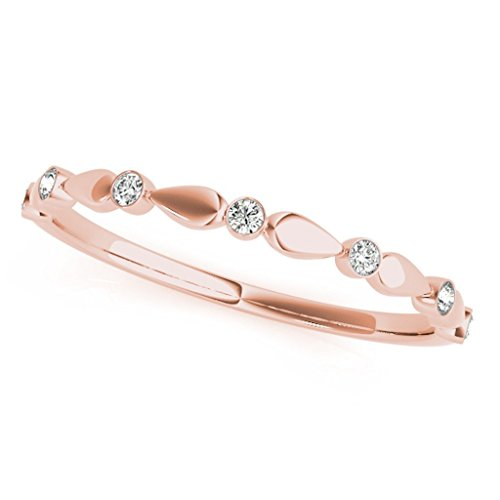 007-Carat-Round-Diamond-Antique-Wedding-Band-In-14K-Solid-Rose-Gold