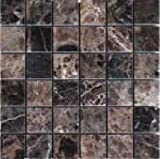 "Emperador Dark Select Marble 2x2"" Polished Mosaic"
