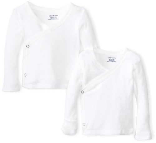 Gerber Unisex-Baby Newborn 2 Pack Long Sleeve