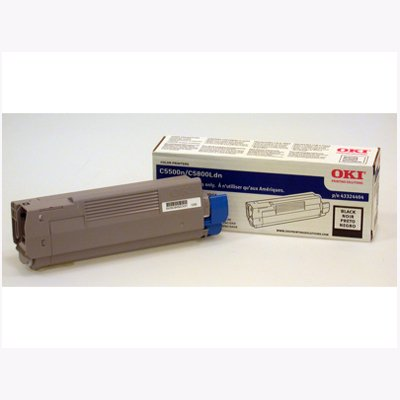 Okidata C5500N/C5800Ldn Black Toner Cartridge Yield 5000 Pages Popular High Quality New