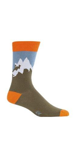 Sock It to Me Men's Socks Summit Crew Brown 1pair One Size