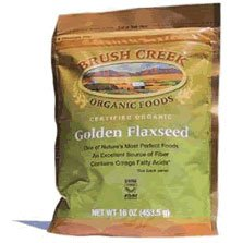 Certified Organic Golden Flaxseed 16 oz Brush Creek Organic Foods (Natural Made Flex compare prices)