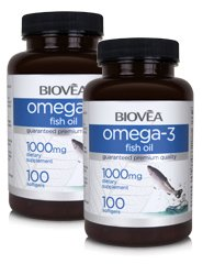 OMEGA-3 FISH OIL 1000mg 200 Softgels (BONUS PACK)