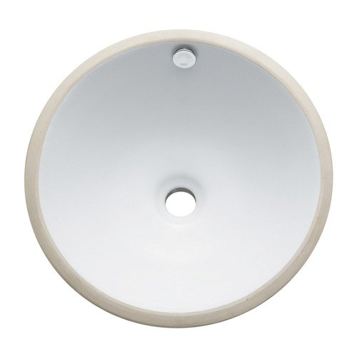 American Imaginations 544 16-Inch x 16-Inch CUPC Approved Round Undermount Sink, White