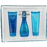 Cool Water Woman by Davidoff 100ml Eau de Toilette Spray, 75ml Body Lotion & 75ml Shower Gel