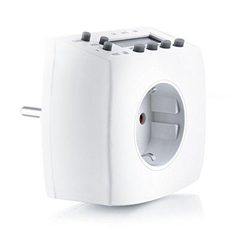 Arendo-Digitale-Zeitschaltuhr-Weekly-Digital-Timer-minutengenau-LCD-Display-3680W-IP-20-Schutzart-8-konfigurierbare-Schaltprogramme-Wochen-Tages-und-Minutenprogramm-intelligente-Zufallsschaltung-Kinde