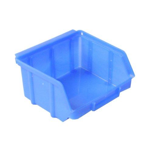 Aufbewahrungsbox, stapelbar, blau transparent