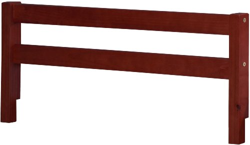 100-Solid-Wood-Safety-Rail-Guard-by-Palace-Imports-Mahogany-Color-145H-x-425W-2x-2-Posts-Rubberized-Metal-Connectors-Included-Mattress-Height-Up-To-8-Requires-Assembly