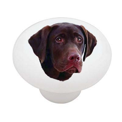 Chocolate Lab Decorative High Gloss Ceramic Drawer Knob