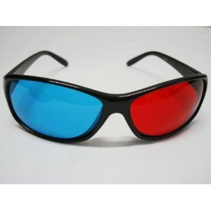 Classic Style 3d Glasses in Red- Blue for Movie and Games