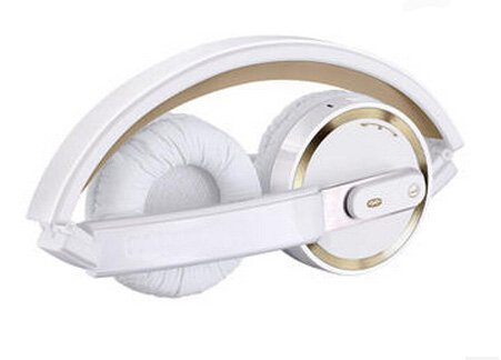 E-More® Foldable Elegant Wireless Bluetooth 4.0 Headphone For Win8 Mac Os (Gold+White)